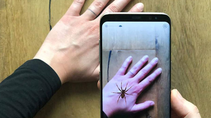 Augmented reality to reduce your fear of spiders